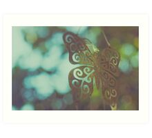 Bokeh With Butterfly Wings Art Print