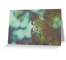 Bokeh With Butterfly Wings Greeting Card