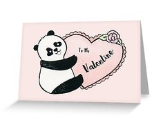 Panda Valentine Greeting Card