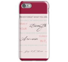 Never forget what you are P4 iPhone Case/Skin