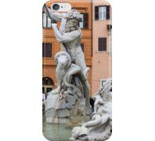 Marble Muscles - Fountain of Neptune, Piazza Navona, Rome, Italy iPhone Case/Skin