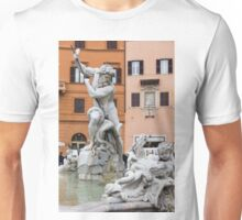 Marble Muscles - Fountain of Neptune, Piazza Navona, Rome, Italy Unisex T-Shirt