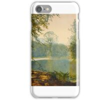 John Atkinson Grimshaw  THE QUIET OF THE LAKE, ROUNDHAY PARK iPhone Case/Skin