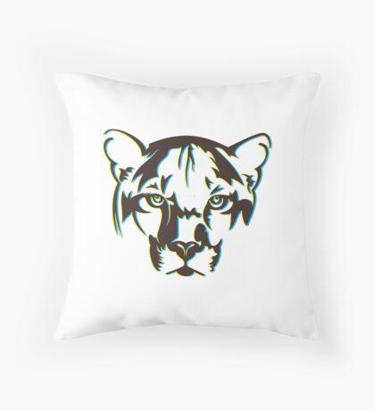 abstract tiger face Throw Pillow