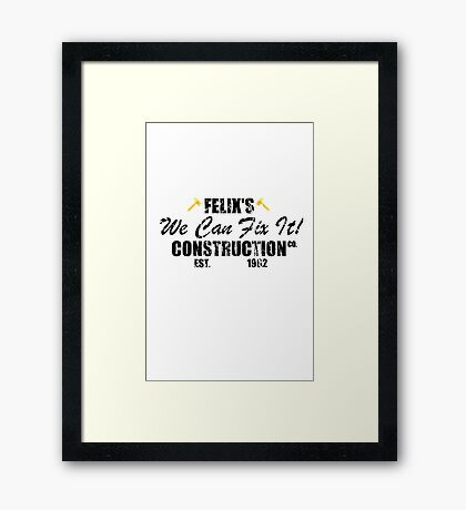 Felix's Construction Co Framed Print
