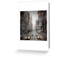City-Art NYC 5th Avenue Yellow Cabs Greeting Card