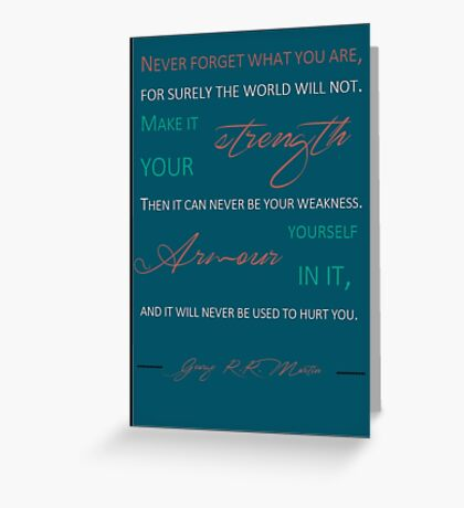 Never forget what you are P8 Greeting Card