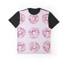 Pink donuts pattern Graphic T-Shirt