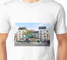 A new Apartment building in Jaffa Israel with a public playground in the foreground  Unisex T-Shirt