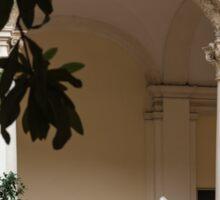 Courtyard Treasures - Wandering Around in Rome, Italy Sticker