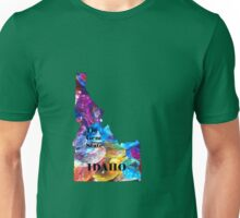 Idaho Map with State Nickname:  The Gem State Unisex T-Shirt