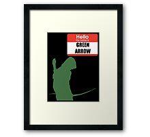 My name is arrow Framed Print