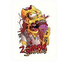 ZOMBIE Simpsons Art Print