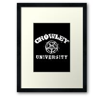 CROWLEY UNIVERSITY - white letters Framed Print