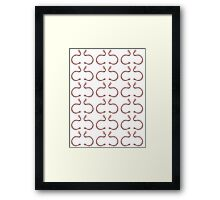 Pair of Earthworms Framed Print