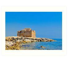 Paphos Castle by Sea Art Print