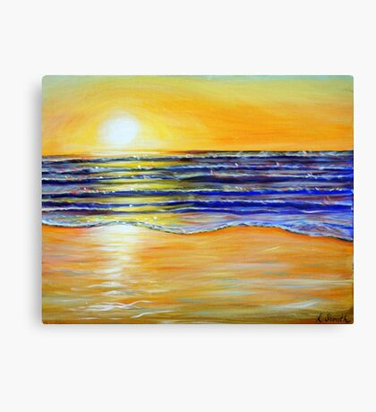 New Year's Eve Sunset Canvas Print