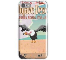 Mojave Desert cartoon vacation poste iPhone Case/Skin