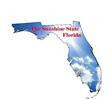 Florida Map with State Nickname:  The Sunshine State by Havocgirl