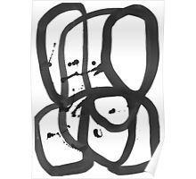 Black & White Abstract 2 Poster
