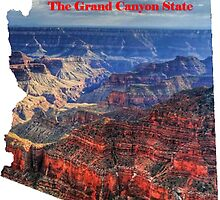 Arizona Map with State Nickname:  The Grand Canyon State by Havocgirl