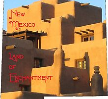 New Mexico Map with State Nickname:  The Land of Enchantment by Havocgirl