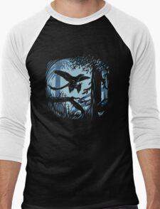 Frosty Microraptor Men's Baseball ¾ T-Shirt