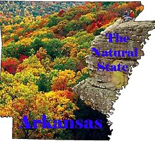 Arkansas Map with State Nickname:  The Natural State by Havocgirl