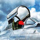 Thunderstreak Turbojet Cockpit by Susan Savad