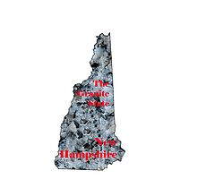 New Hampshire Map with State Nickname:  The Granite State by Havocgirl