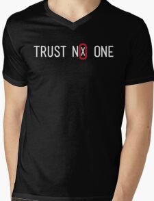 Trust No One Mens V-Neck T-Shirt