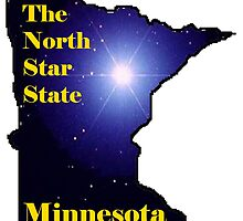 Minnesota Map with State Nickname:  The North Star State by Havocgirl