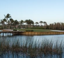 Blue hour on a golf course Sticker