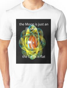 flat earth concept... Unisex T-Shirt