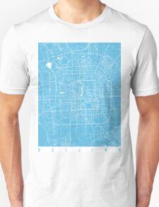 Beijing map blue Unisex T-Shirt