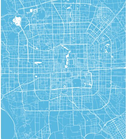 Beijing map blue Sticker