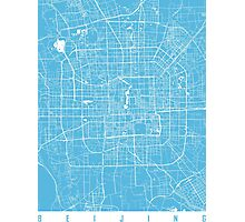 Beijing map blue Photographic Print