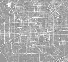 Beijing map grey by mapsart