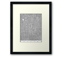 Beijing map grey Framed Print