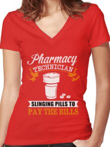 Technician Women's Fitted V-Neck T-Shirt