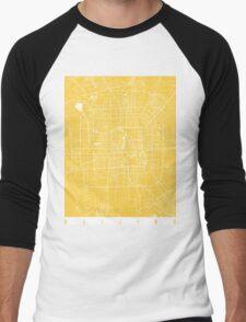Beijing map yellow Men's Baseball ¾ T-Shirt