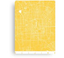 Beijing map yellow Canvas Print