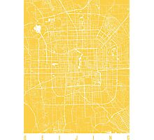 Beijing map yellow Photographic Print