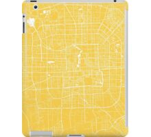 Beijing map yellow iPad Case/Skin