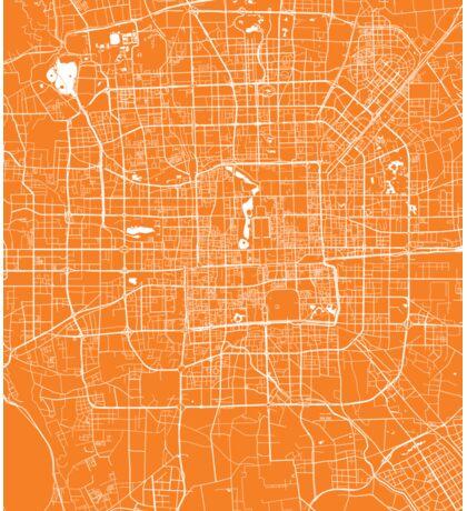 Beijing map orange Sticker