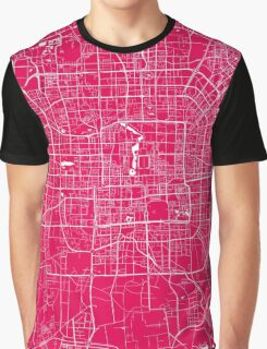Beijing map raspberry Graphic T-Shirt