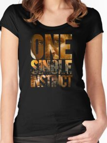 One Single Instinct Women's Fitted Scoop T-Shirt