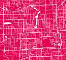Beijing map raspberry Sticker