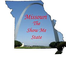 Missouri Map with State Nickname:  The Show Me State by Havocgirl