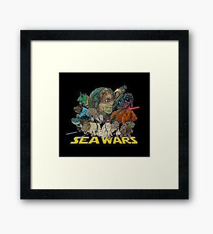 SEA WARS! Framed Print